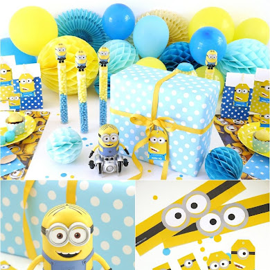 Minion Inspired Birthday Party Ideas & FREE Printables