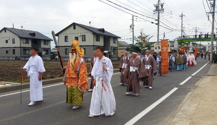 人文研究見聞録:大縣神社の奇祭・豊年祭2015(神幸行列)