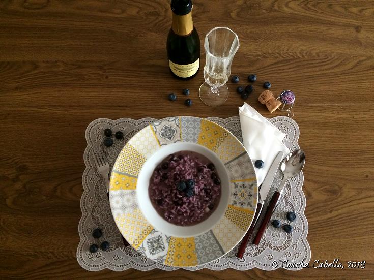 risotto-arándanos-mesa