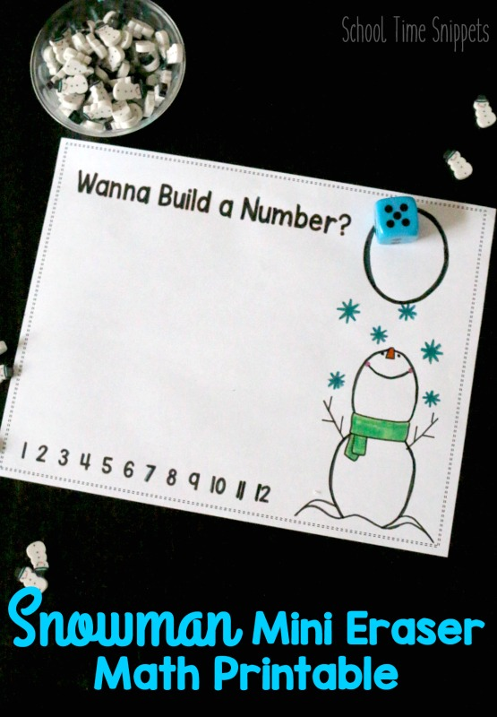 winter math printable