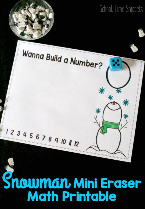 winter math printable