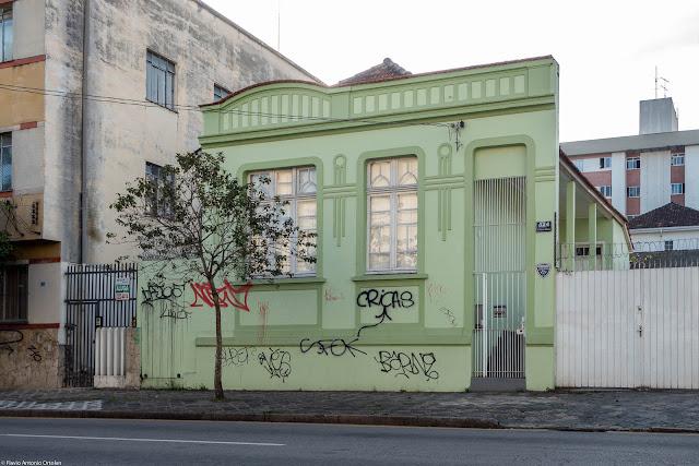 Casa na Rua Martim Afonso que é uma Unidade de Interesse de Preservação