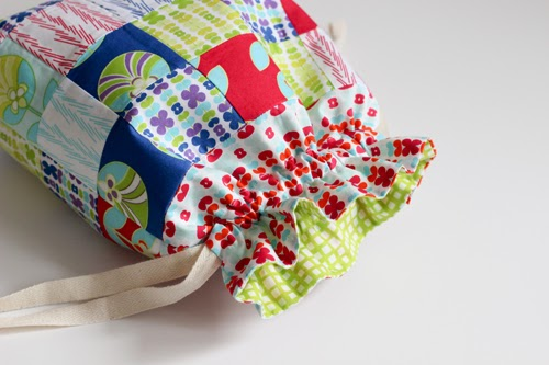Patchwork Drawstring Bag Tutorial - In Color Order