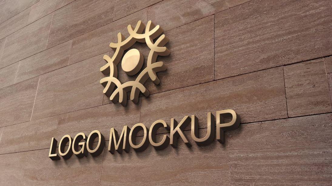 Mockup Logo Pada Dinding