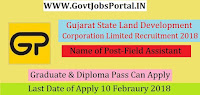 Gujarat State Land Development Corporation Limited Recruitment 2018 – 37 Field Assistant