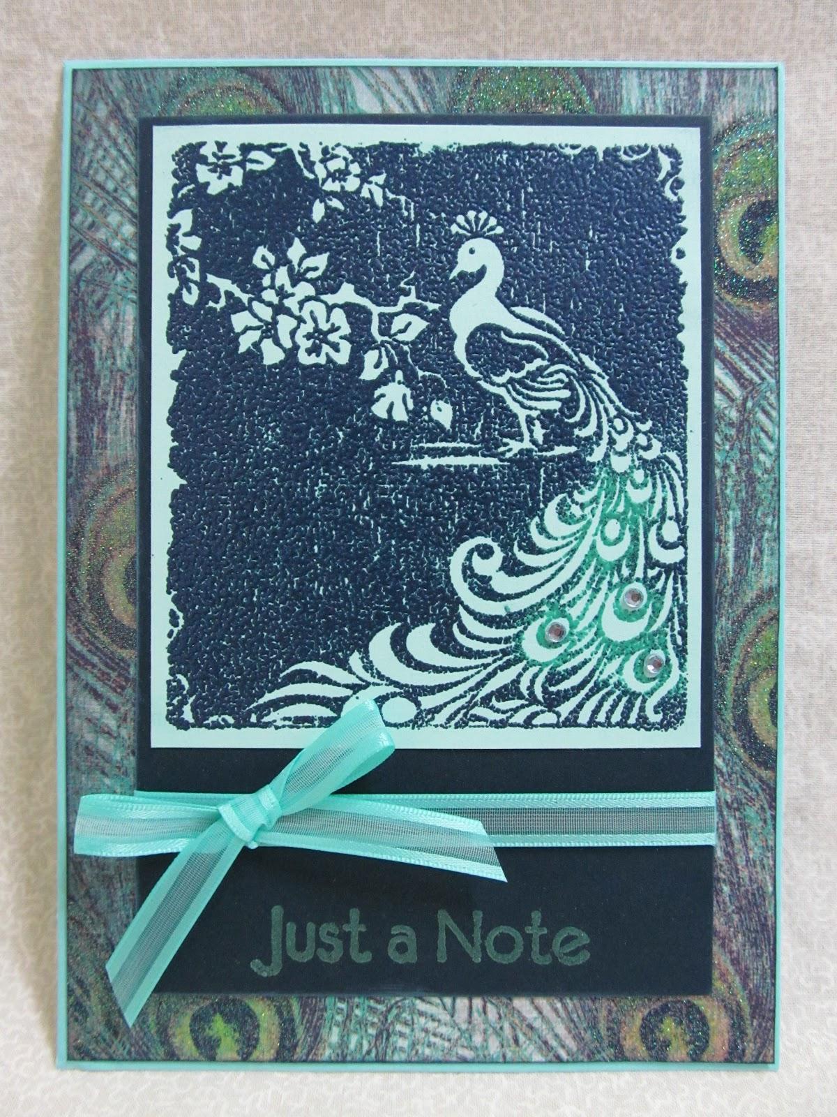 Savvy Handmade Cards: Peacock Embossed Card