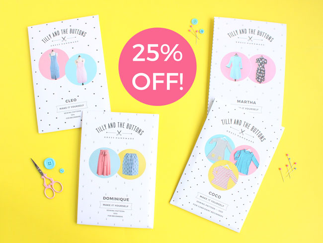 25% off sewing patterns