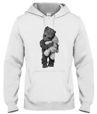groot hugging teddy bear, Groot Hug Teddy Bear Hoodie