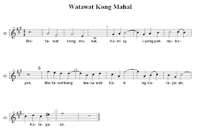 Watawat Kong Mahal - Filipino Folk Song Sheet Music