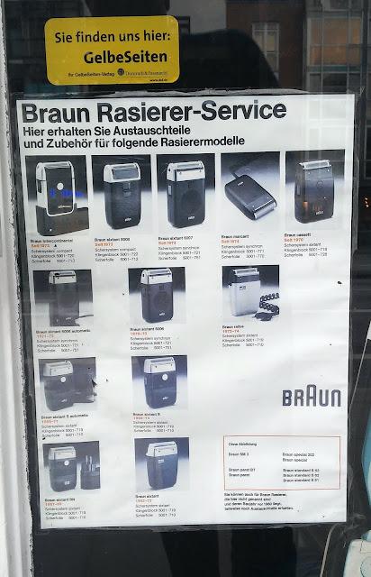 alte Rasierapparate von Braun