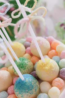 #pastel rainbow #Pixie dust cake-pops