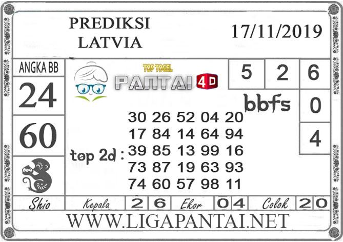 "PREDIKSI TOGEL ""LATVIA"" PANTAI4D 17 NOVEMBER 2019"