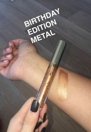 Kylie Cosmetics Birthday Edition Lord Metal Lipstick Swatch