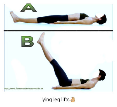 lying leg lifts
