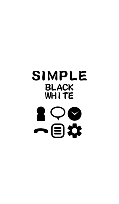SIMPLE black×white*