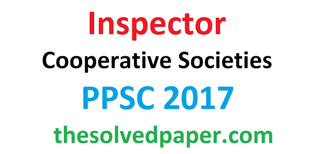 past paper of inspector in cooperative societies