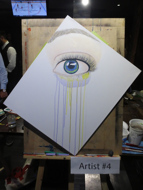 At showdown, toronto art, toronto, toronto artist, mississauga art, mississauga, canadian artist, art battle, art competition, speed painting, eye art, eye painting, multicoloured eye