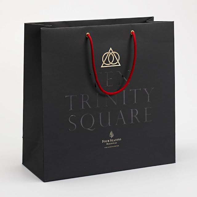 Black Shopping bag Four Seasons London Ten Trinity Square