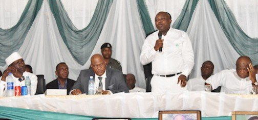 Photos: Ambode in school uniform to his Alma mater, FGC Warri