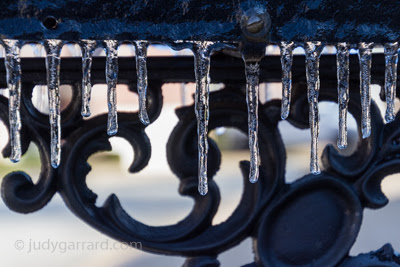 Wrought iron and icicles