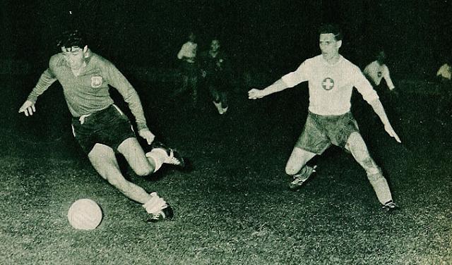 Suiza y Chile en partido amistoso, 6 de abril de 1960