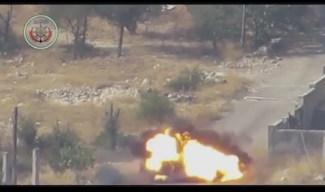 Video: 3 Milisi Syiah Tewas di Hantam TOW Pejuang Suriah
