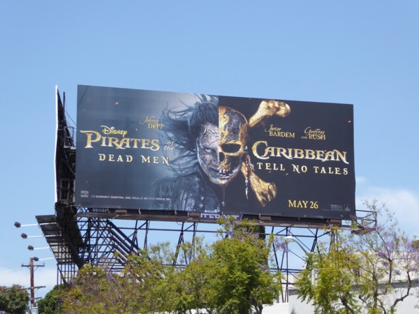 Pirates of the Caribbean Dead Men Tell No Tales billboard