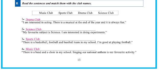 9. Sınıf Yıldırım Yayınları İngilizce A1.2 Çalışma Kitabı 13. Sayfa Cevapları Theme 1 People And Society