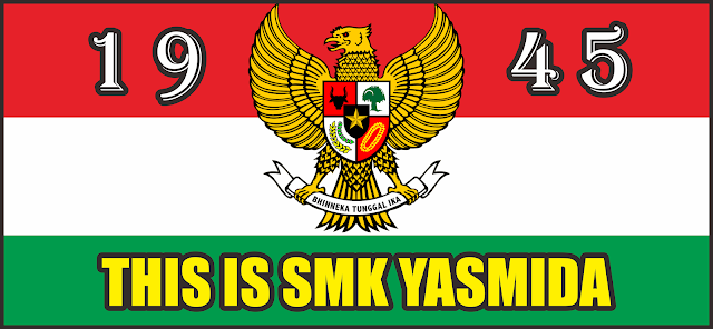 Design Banner Tulisan SMK Yasmida Ambarawa Karnaval 17 Agustus