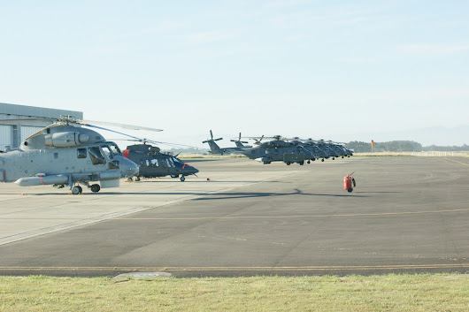 Start of the drip-feed: Arrival at Ohakea and line-up of NZ choppers