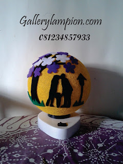 Lampion Benang Jahit - Lampu Tidur Benang Jahit