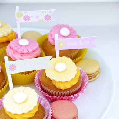 Free Printables | Bridal Shower Pink & Yellow Kit