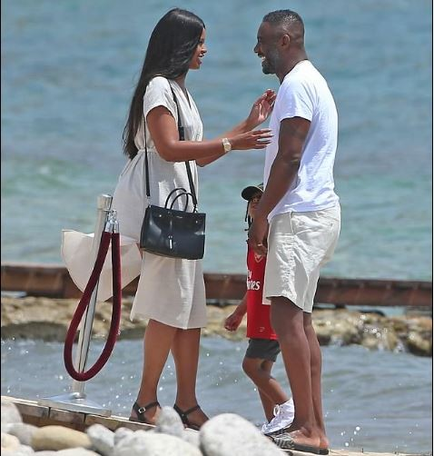 Idris Elba spends family time with fiancée Sabrina Dhowre and his son Winston in Ibiza (Photos)
