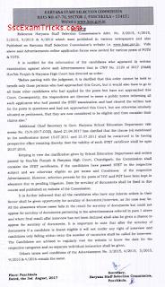 HSSC TGT PGT Notice