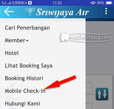 Layanan Mobile Check-in Sriwijaya dan NAM Air