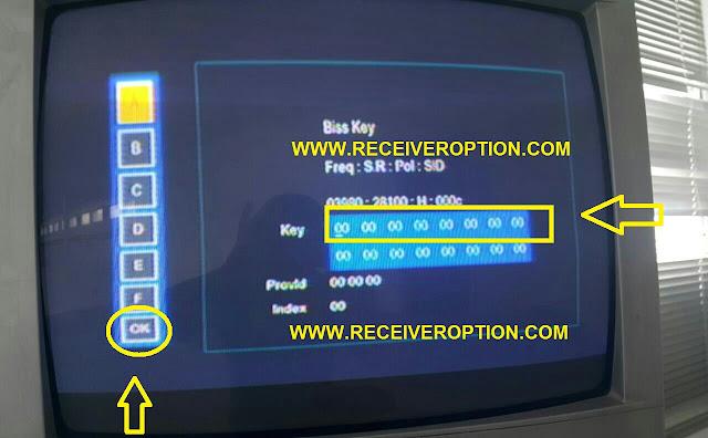 SKY TRACK SKT-6000 HD PLUS BISS KEY OPTION