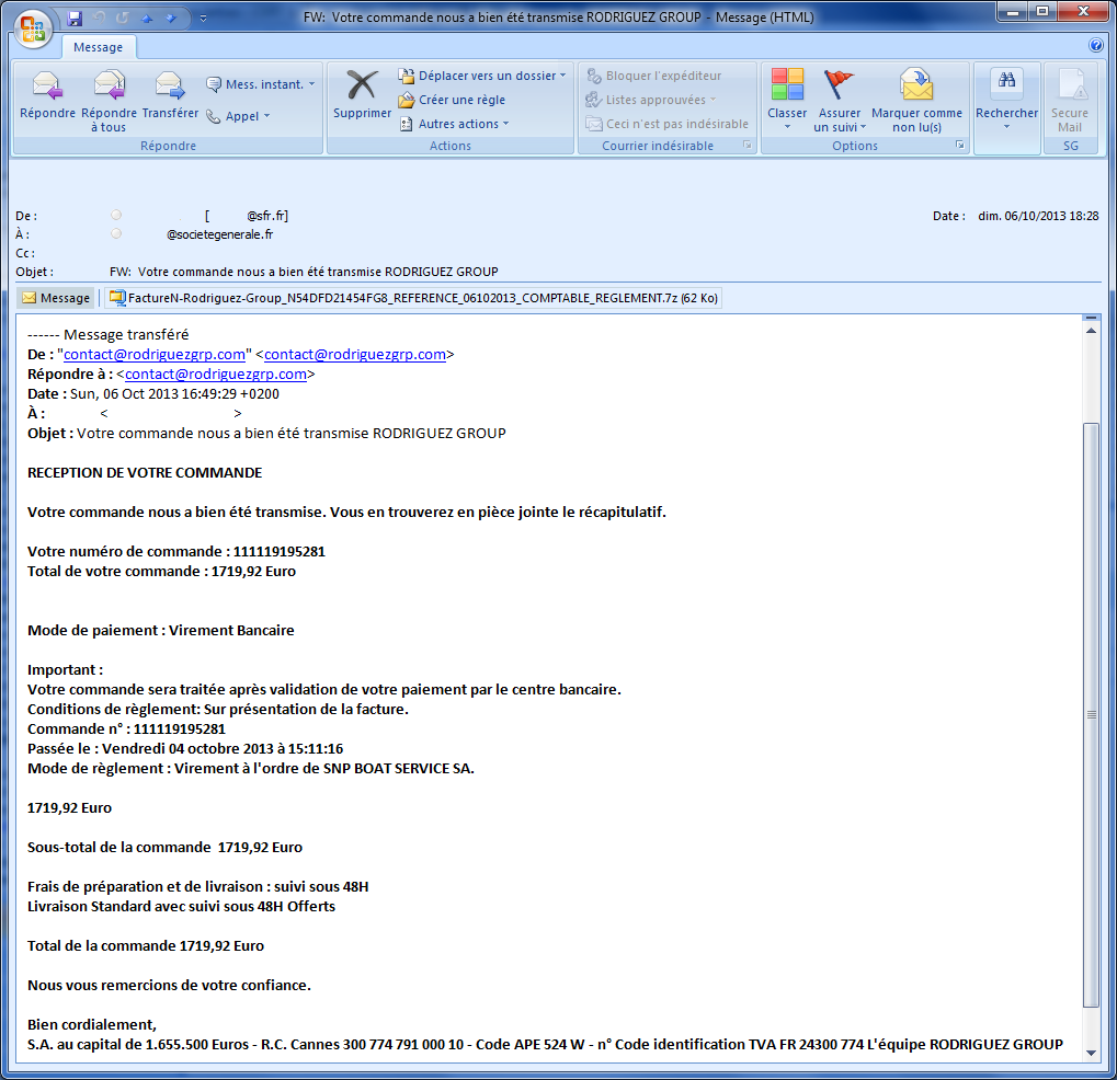 cert societe generale spamvertizing du malware dans votre bo te mail. Black Bedroom Furniture Sets. Home Design Ideas