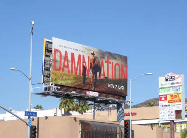 Damnation series launch billboard