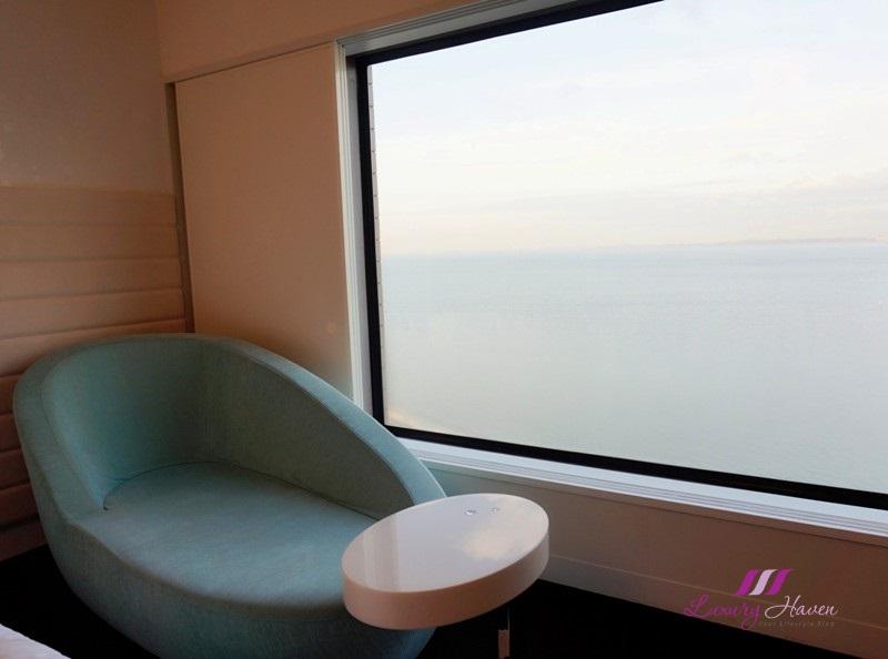 hilton tokyo bay soda blue sofa lounger