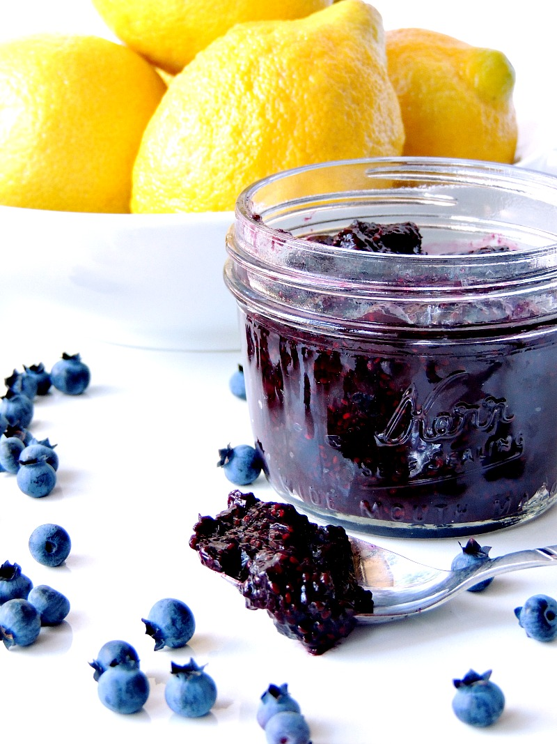 Super quick, and uber tasty, this low carb blueberry chia jam is not just awesome because of its blueberry flavor. It is fab because it packs some superfood punch! #keto #lowcarb #blueberry #chia #jam #jelly #easy #recipe   bobbiskozykitchen.com