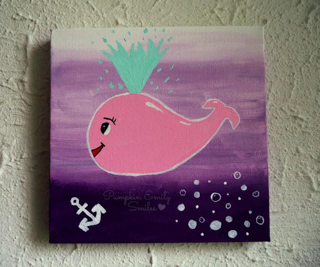 Cute Cartoon Whale DIY Painting