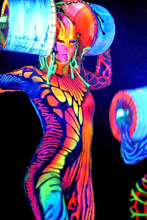 Abstract: World's Largest Body Painting Black Light Party ...