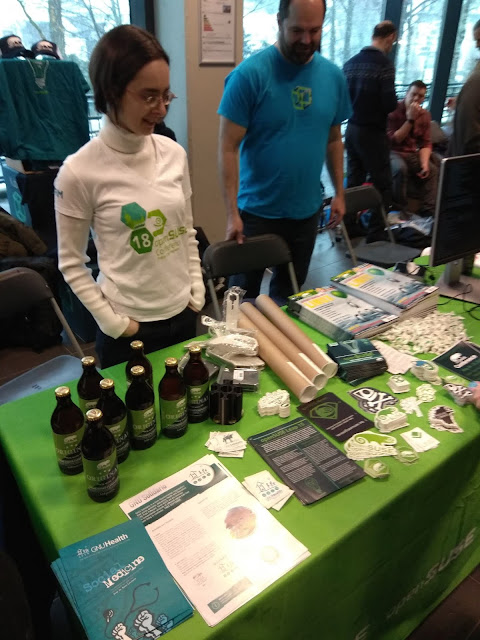 openSUSE booth at FOSDEM 2019