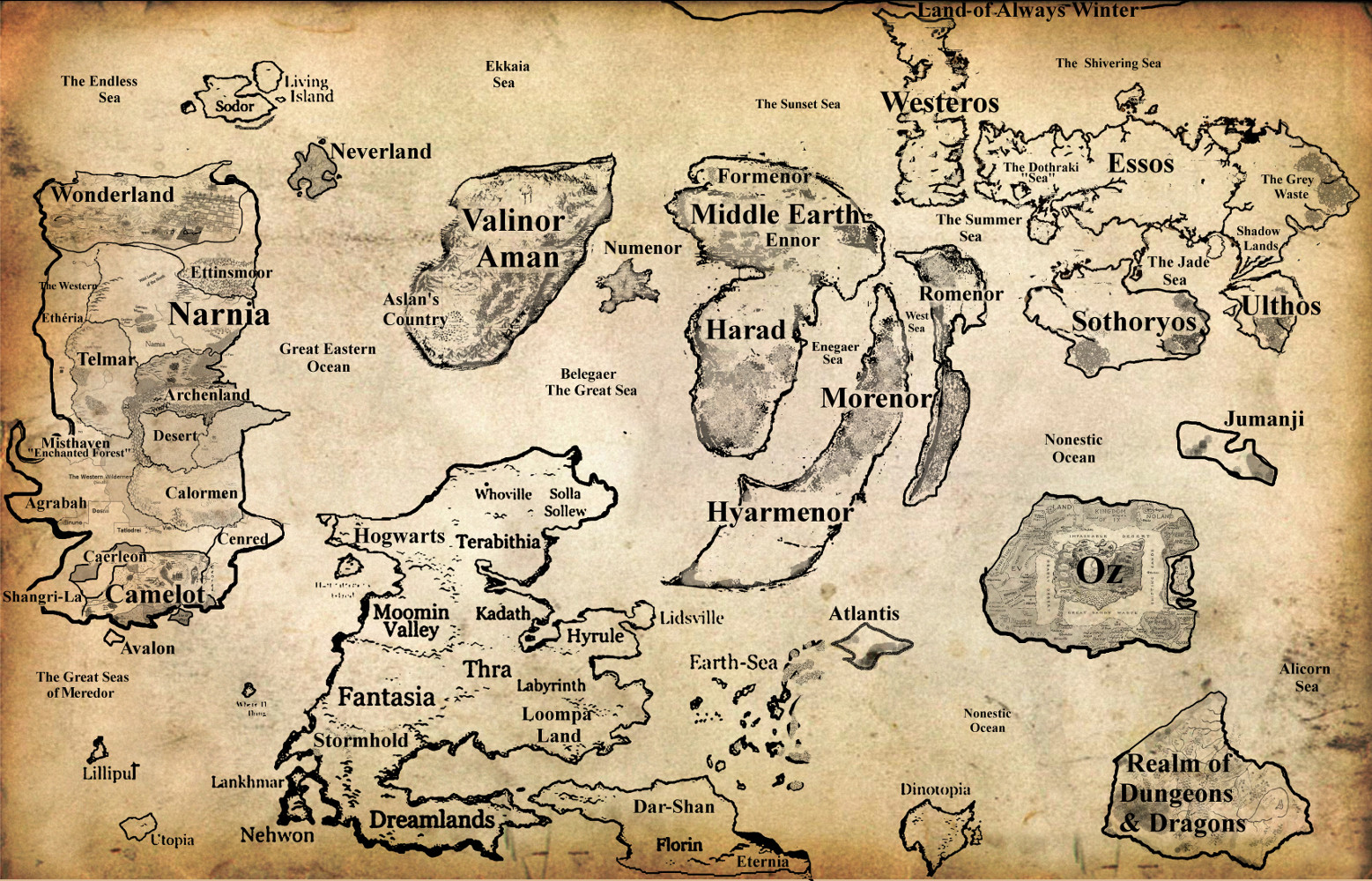how to draw a fantasy world