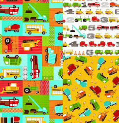 TRUCKS and TRACTORS FOR ROBERT KAUFMAN FABRICS | SEPT 2013