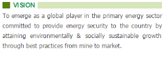 COAL INDIA Vision Primary Energy Sector