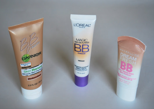 Maybelline, Loreal and Garnier BB Cream
