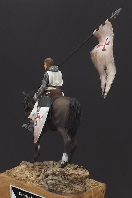 Templar Knight on Horseback c.XI - Andrea Miniatures 90mm Templar%2B3
