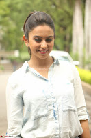 Rakul Preet Singh in Jeans and White Shirt At Jaya Janaki Nayaka le Logo Launch ~  Exclusive 009.JPG
