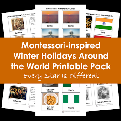 Montessori-inspired Winter Holidays Around the World Printable Pack